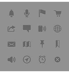 Icons collection for Mobile Applications vector image vector image