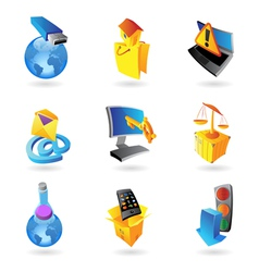 Icons for industry and ecology vector