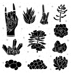Isolated black silhouettes vector