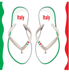 Italian flip flops vector