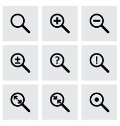 magnifying glass icon set vector image vector image