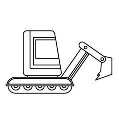 mini excavator icon outline vector image