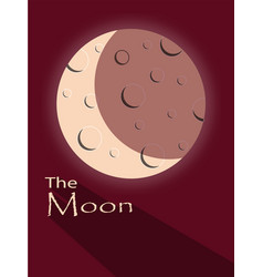 moon with shadow an text vector image vector image