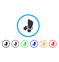 Morgue tagged foot rounded icon vector