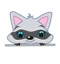 peeking raccoon vector image vector image