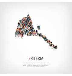 People map country eritrea vector