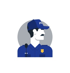 People policeman 3 vector image vector image