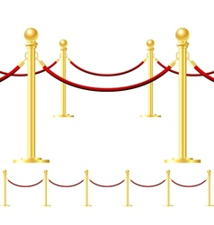 Rope barrier isolated on white vector image