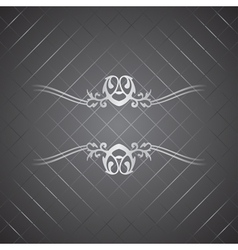 silver background vector image vector image