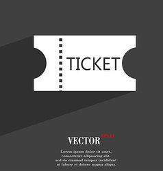ticket icon symbol Flat modern web design with vector image