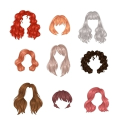 woman hairstyle vector image vector image