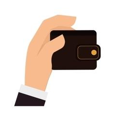 Wallet money financial item design vector