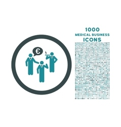 Euro discuss persons rounded icon with 1000 bonus vector