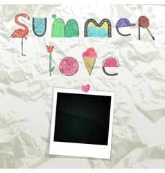 Summer love vector