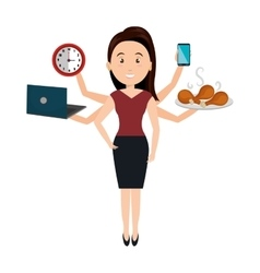 Very busy person character vector