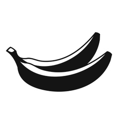 Banana icon simple style vector