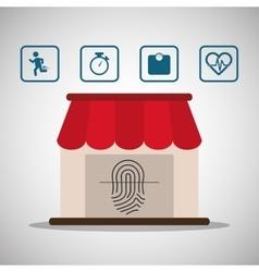 Sport online application finger print wearable vector