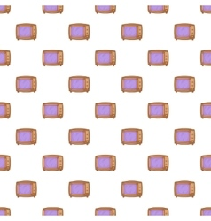 Retro TV pattern cartoon style vector image