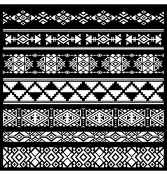 Mexican american tribal art decor brushes vector image