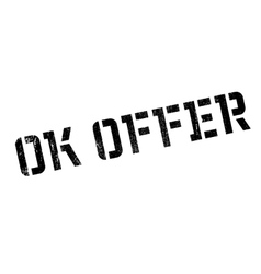 Ok offer rubber stamp vector