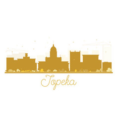 topeka city skyline golden silhouette vector image