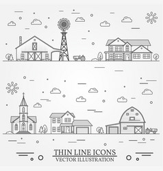 Neighborhood with buildings on white vector