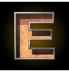 Old metal letter e vector