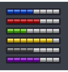 Color Loading Progress Bar Set vector image
