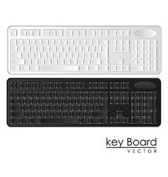Computer keyboards black and white vector
