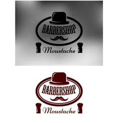 Classy barber shop icon emblem or label vector