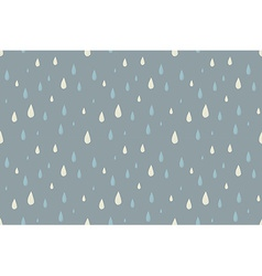 Rain seamless pattern foggy cold autumn day vector image