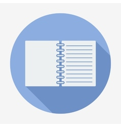 Flat style icon notebook vector image
