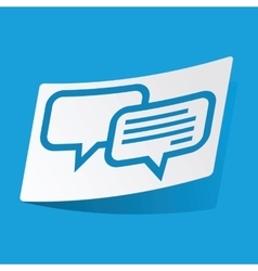 Chatting sticker vector