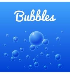Ocean and sea bubbles group of bubbles vector