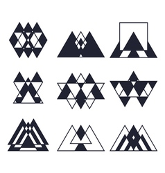 Set of geometric shapes trendy icons and logotypes vector