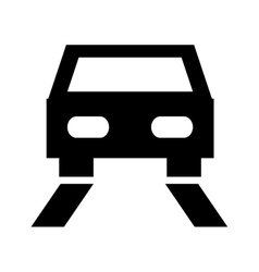 Car on the road design vector