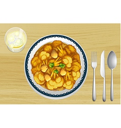 A food in a dish vector image