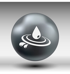 Abstract symbol of a drop water symbol vector image vector image