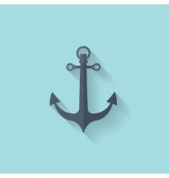 Anchor flat web icon vector