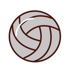 brightly volley ball cartoon vector image vector image