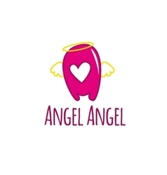 cartoon A letter glossy pink logotype with vector image vector image