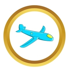 Children plane icon vector
