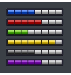 Color Loading Progress Bar Set vector image vector image