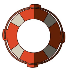 colorful flotation hoop with rope and middle vector image