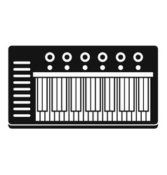 electronic synth icon simple style vector image vector image