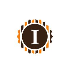 Emblem template rebest quality letter i vector