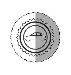 Figure star emblem side car icon vector