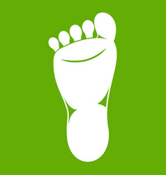 Foot left leg icon green vector