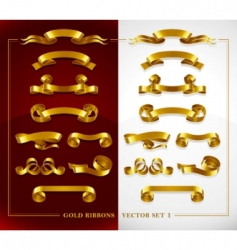gold banners vector image vector image