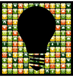 Green mobile phone app ideas vector image